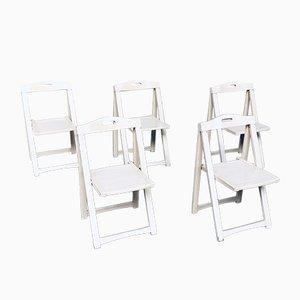 Chaises Pliantes Mid-Century Modernes par Aldo Jacober pour Alberto Bazzani, Italie, 1960s, Set de 5
