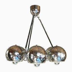 Mid-Century Deckenlampe aus verchromtem Stahl von Goffredo Reggiani