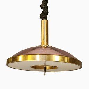 Mid-Century Deckenlampe mit Auf und Ab System von Stilux Milano