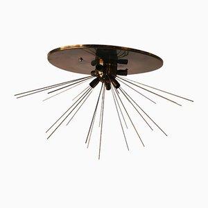 Vintage Brass Sputnik Ceiling Lamp