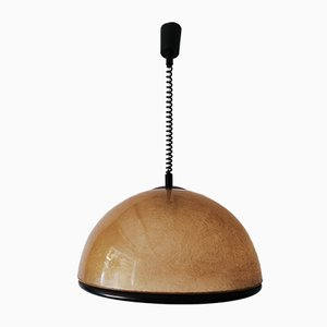 Vintage Fiberglass Dome Ceiling Lamp by Studio Tecno Design for Luci Italia