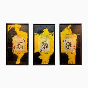 James Coignard, Visages (Jaune Buch) - Triptychon