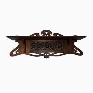 Antique Shelf with Children's Choir Carving
