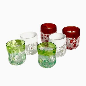 Vintage Italian Murano Water Glasses by Maryana Iskra for Ribes, 2000s, Set of 6