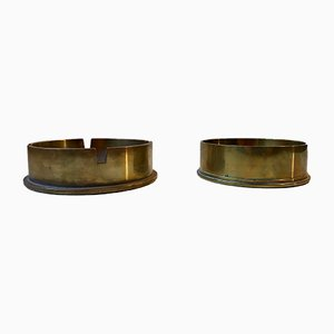 WW2 Cannon Shell Ashtray & Nut Bowl Set in Brass and Bronze, 1960s