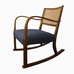 Vintage Model 1418 Rocking Chair by Fritz Hansen