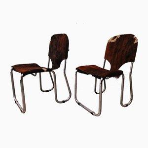 Mid-Century Pferde Esszimmerstühle, 2er Set
