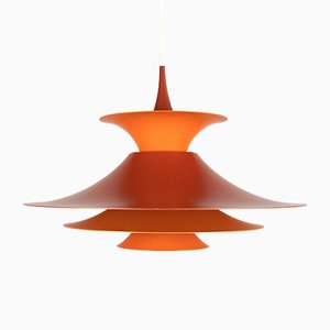 Orange Radius Pendant Lamp by Erik Balslev for Fog & Mørup, 1970s