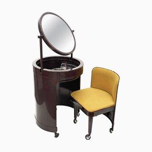 Tavolino da trucco con sgabello di Kastilia, anni '70, Italia, set di 2