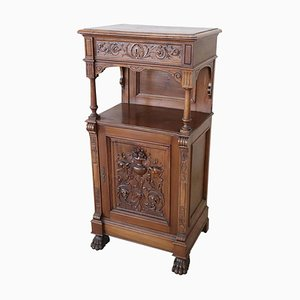Antique Carved Wood Cabinet, 1880s
