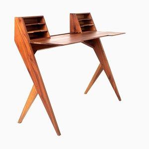 Vintage Teak Desk in the Style of Gio Ponti, Italy, 1950s