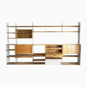 Mid-Century Swedish Modular String Wall Shelving System by Strinning, Kajsa & Nils ''Nisse'' for String, 1950s