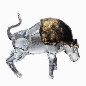 Buffalo Figur aus Murano Kristallglas von Alessandro Barbaro