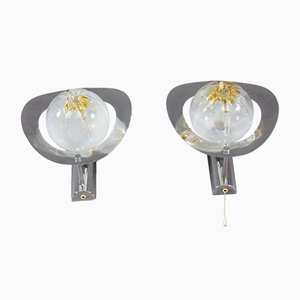 Murano Glass Sconces from Mazzega, 1960s, Set of 2