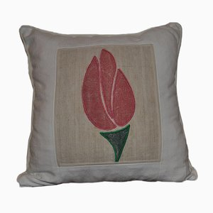 Vintage Tulip Patterned Cushion