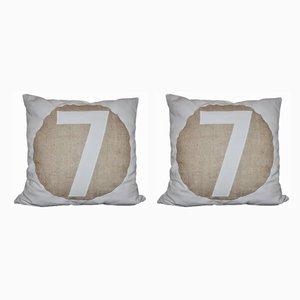 Vintage No.1 & No.7 Cushion, Set of 2