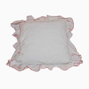 Vintage Rose Patterned Ruffled Cushion