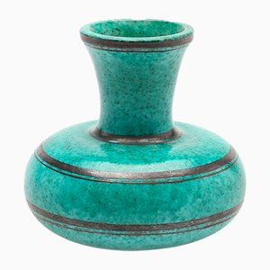 Vintage Argenta Vase in Glazed Ceramic by Wilhelm Kåge for Gustavsberg