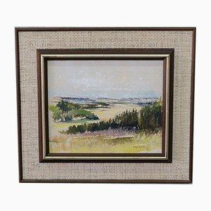 Ralph Björklund, pintura sueca, años 70, óleo sobre lienzo