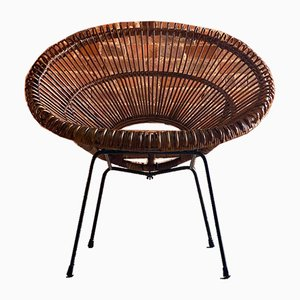 Französischer Solitaire Stuhl aus Rattan von Janine Abraham & Dirk Jan Rol, 1957