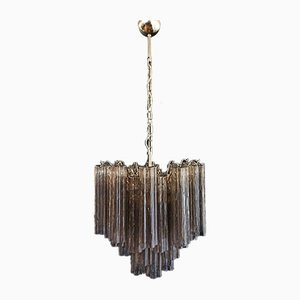 Murano Glass Tube Chandelier, 1980s
