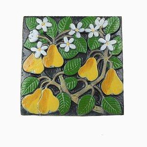 Pomona Serie Birnen Wandteller von Lisa Larson für Gustavsberg, 1970er