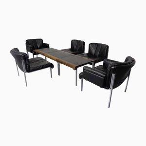 1200 Euro Stühle & Tische Set von Girsberger, 1970er, 8er Set