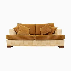 Donghia Woven Rattan Block Island Sofa by John Hutton, 1990s