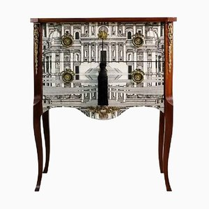Louis XV Style Console Table by Piero Fornasetti