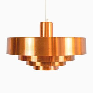Copper Roulet Pendant Lamp by Jo Hammerborg for Fog & Mørup, 1960s