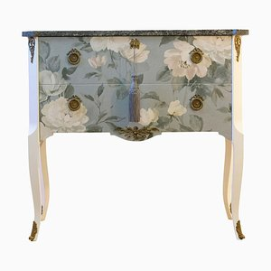 Louis XV Style Chest with Floral Pattern, 1950s