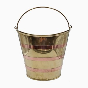 Antique Copper and Wooden Bucket