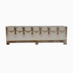 Antique Elongated Planter with Garlands