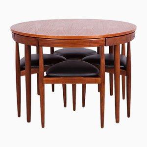 Table de Salle à Manger & 4 Chaises Mid-Century en Teck par Hans Olsen pour Frem Røjle, 1950s