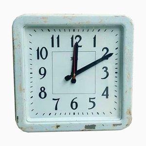 Light Blue Factory Clock, 1950s