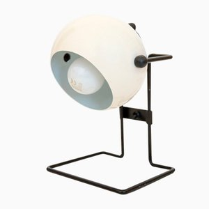 Danish White Ball Stat Table Lamp by P. Bosque for Abo Randers, 1980s