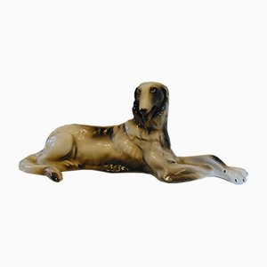 Porcelain Figurine, Wałbrzych Greyhound Dog, 1970s
