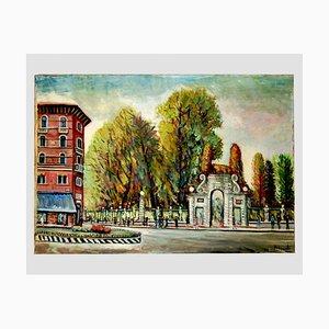 Panel de lona, Bramante Onofrio, Vicenza, años 50