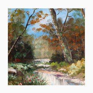Landschaftsmalerei, Öl auf Leinwand, Toni Bordignon