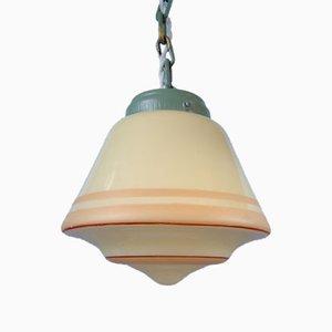 Vintage Yellow Glass Pendant Lamps, Sweden, Set of 2