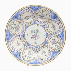 Antiker Porzellan Teller im Sevres-Stil von Edme Samson