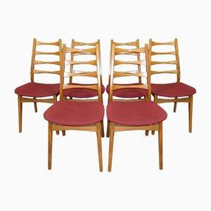 Mid-Century Esszimmerstühle von Friedrich Heine Möbelfabrik, 6er Set