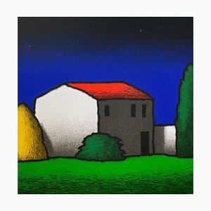 Tino Stefanoni: Nachthaus, Farbserigrafie