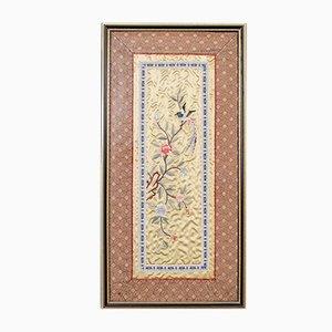 Antique Chinese Decorative Silk Panel, 1900s