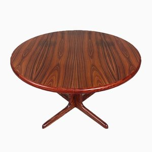 Danish Round Extendable Rosewood Dining Table, 1960s