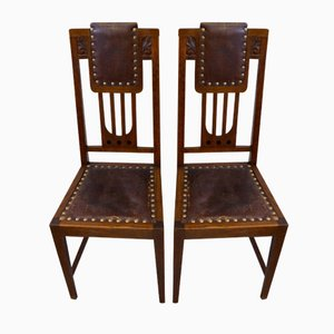 Art Nouveau Dining Chairs, 1910s, Set of 2