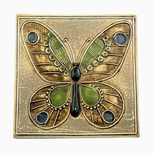 Beaming Butterfly Wall Plate by Lisa Larson for Gustavsberg, 1971