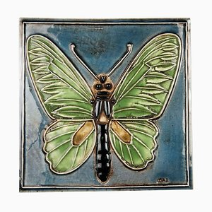 Beaming Butterfly Wall Plate by Lisa Larson for Gustavsberg, 1974