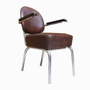Skai Leather Armchairs, 1950s, Set of 4