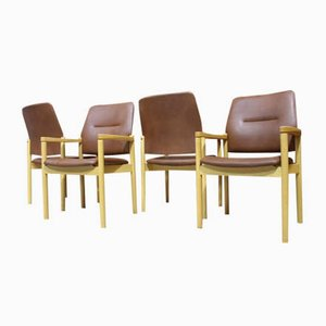 Skai Leather Armchairs from Kusch+Co, 1980s, Set of 4